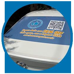 Famacash carro adesivado | Famacor Seguros